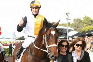 Tye Angland will take the ride on Doc Holliday in his racing return at Rosehill on Saturday. Photo: Daniel Costello
