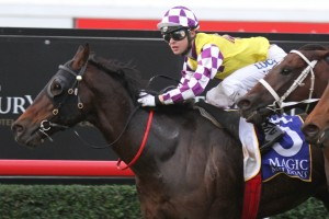 Sacred Star comfortably claimed the 2014 QTC Cup at Eagle Farm this afternoon