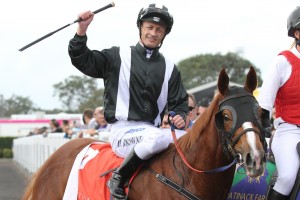 Damian Browne will ride classy filly Earthquake in the Blue Diamond Prelude at Caulfield this weekend.