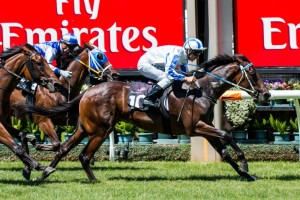 Pasadena Girl will jump from barrier one in the Group 3 Thoroughbred Breeders Stakes.