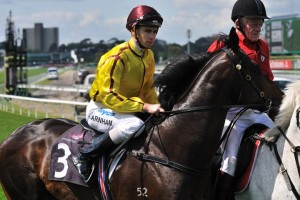Steven Parnham (pictured here on Playing God) will saddle top weight God Has Spoken in the Queen's Cup on Saturday.