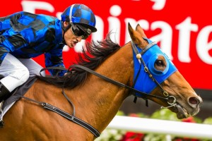 Buffering led from start to finish to record his second straight Group 1 victory in the VRC Sprint Classic at Flemington on Saturday.