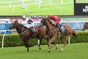 Aeronautical scored his first race win in over a year in the Razor Sharp Handicap in Sydney on Saturday.