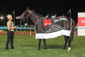 Spirit of Boom in TONY & MANERA LAHOOD FIREBALL QUALITY at Rosehill Gardens on 21 March 2014. Picture by: Race Horse Photos Australia.