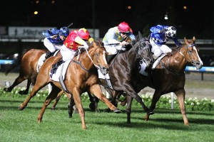 Extreme Choice flew home late to win the Group 1 Moir Stakes at Moonee Valley. Photo: Ultimate Racing Photos