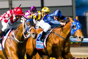 Buffering broke through for his maiden Group 1 victory in the Manikato Stakes at Moonee Valley this afternoon.