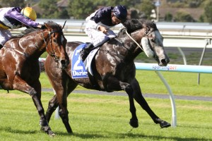 Moonovermanhattan scored an impressive win on debut in the National Stakes in Adelaide.