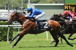 Telperion scores a soft win in the Lonhro Plate at Randwick. Photo by Steve Hart.