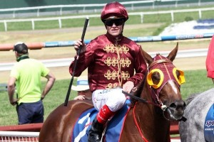 Craig Williams (pictured here on Thurlow) will ride Berisha at Moonee Valley on Friday night.