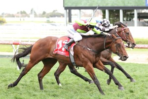 Bons Away upstaged Brave Smash to win the Testa Rossa Stakes. Photo by: Ultimate Racing Photos