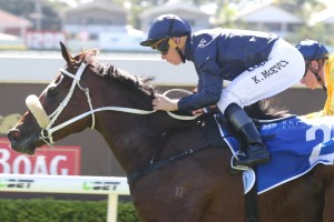 Ballet Suite displayed a keen turn of foot to take out the Princess Stakes. Photo: Daniel Costello