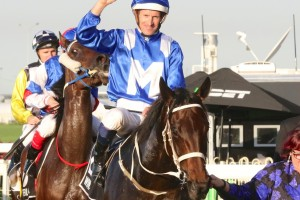 Hugh Bowman, above, is hoping to be fit to ride Winx in the George Ryder Stakes at Rosehill. Photo by Daniel Costello.