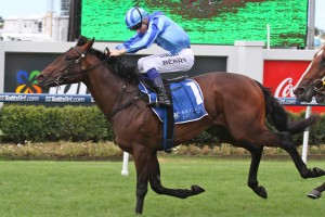 Jockey Craig Williams is confident in the chances of Unencumbered in the 2014 ATC Sires' Produce Stakes