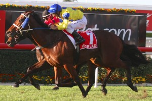 River Lad scored a narrow win over Temple Of Boom in the 2014 Stradbroke Handicap.