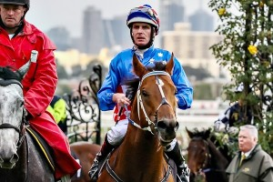 Luke Nolen, above, will ride Good 'N' Fast in the Taj Rossi Series Final at Flemington. Photo by Race Horse Photos Australia.