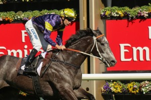 Slade Power will need to beat fast-finishing Chautauqua (pictured) to win his swan song in the Darley Classic.