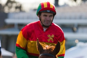 Dwayne Dunn is confident of success aboard Nozomi in the 2014 Victoria Derby. Photo: Race Horse Photos Australia