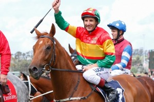 Happy Trails and Damien Oliver will reunite in the Group 1 Australian Cup.