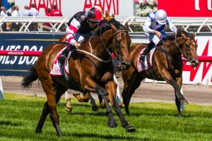 Victoria Derby winner Polanski has been withdrawn from the 2014 Autumn Stakes after developing hives overnight.