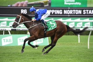Winx, above, can handle the heavy track conditions in the George Ryder Stakes at Rosehill. Photo by Steve Hart.