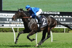 Exosphere leads the 2015 Coolmore Stud Stakes final field. Photo: Steve Hart