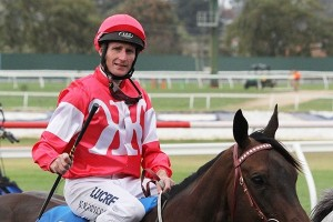 Brad Rawiller, above, is the new rider for Ulmann in the A.J. Scahill Stakes at Ascot. Photo by Adrienne Bicknell.